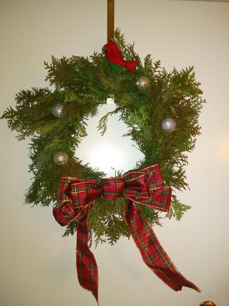 Cardinal Christmas Wreath